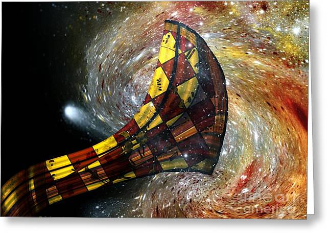 Music Of The Cosmos Greeting Card by RC deWinter