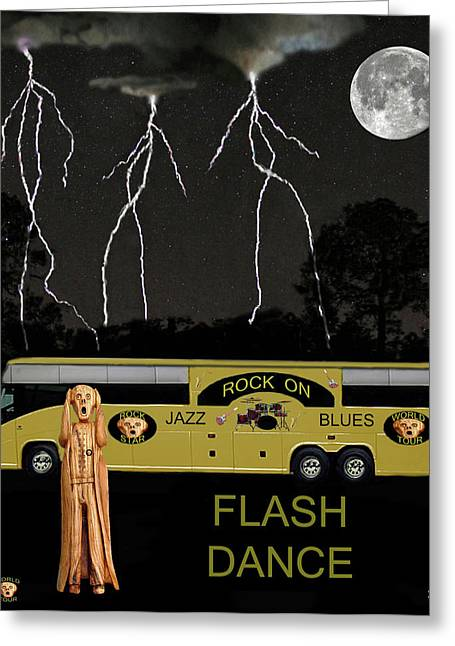 Music Scream Tour Greeting Card by Eric Kempson