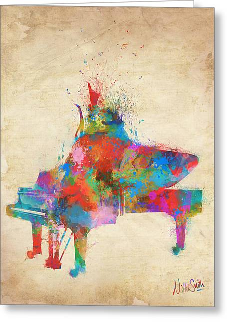 Music Strikes Fire From The Heart Greeting Card by Nikki Marie Smith