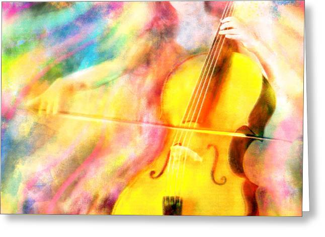 Music To My Eyes Greeting Card by Jennifer Allison