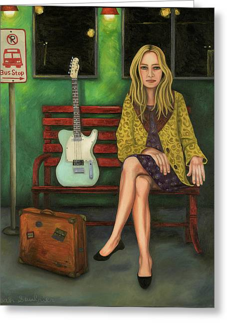 Music Traveler 2 Greeting Card by Leah Saulnier The Painting Maniac