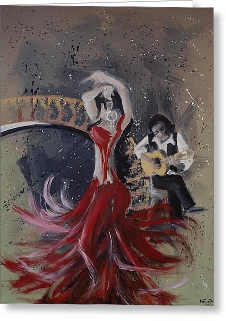 Musica Espaniol Greeting Card by Kelly Jade King