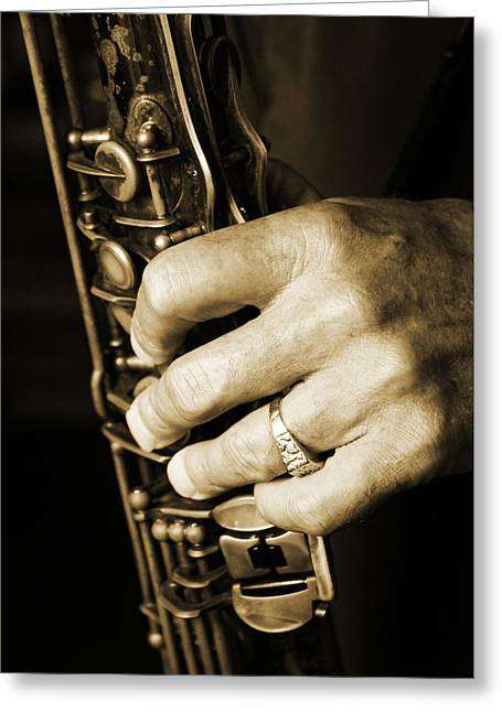 Musical Hand Greeting Card by Paige Brown