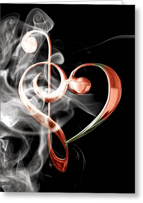 Musical Heart Collection Greeting Card by Marvin Blaine