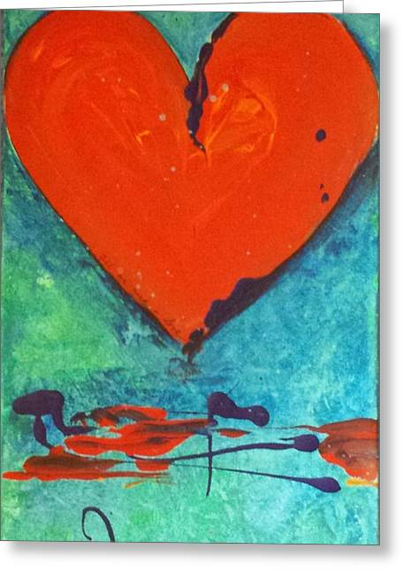 Greeting Card featuring the painting Musical Heart by Diana Bursztein