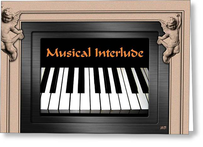 Musical Interlude Greeting Card by Will Borden