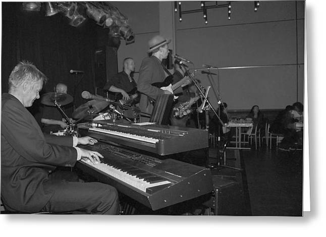 Musical Jazz Band Greeting Card