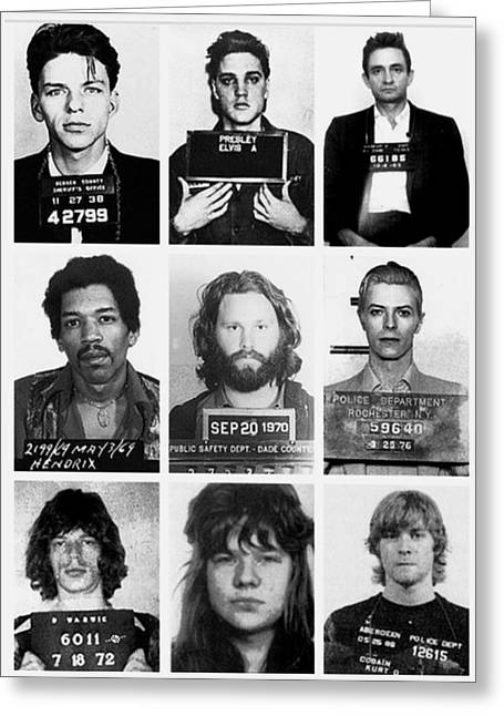 Musical Mug Shots Three Legends Very Large Original Photo 9 Greeting Card