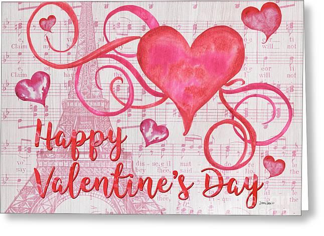 Musical Valentine Greeting Card by Debbie DeWitt