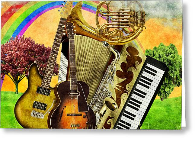 Musical Wonderland Greeting Card