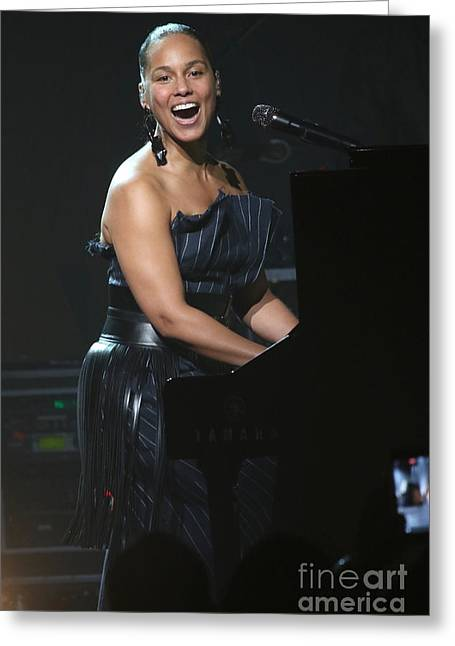Musician Alicia Keys Greeting Card by Concert Photos