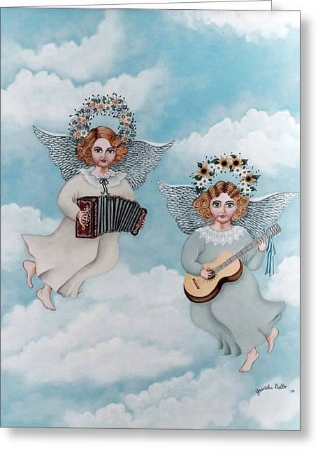Musician Angels Greeting Card