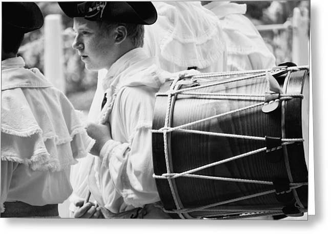 Field Musician Of Colonial Williamsburg Greeting Card by Rachel Morrison