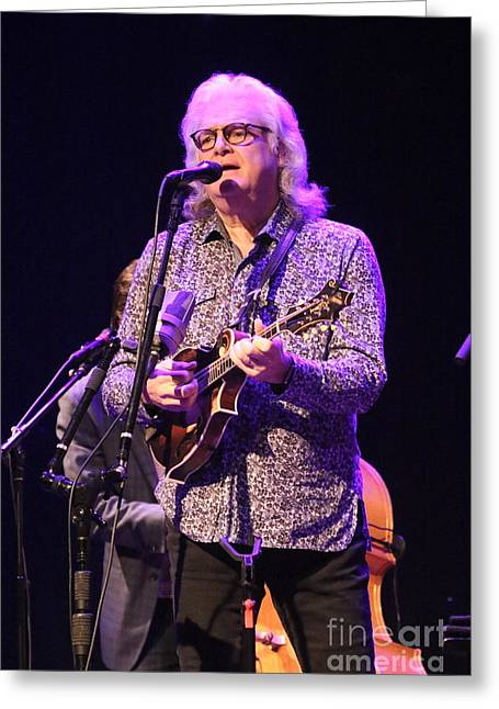 Musician Ricky Skaggs And Kentucky Thunder Greeting Card by Concert Photos