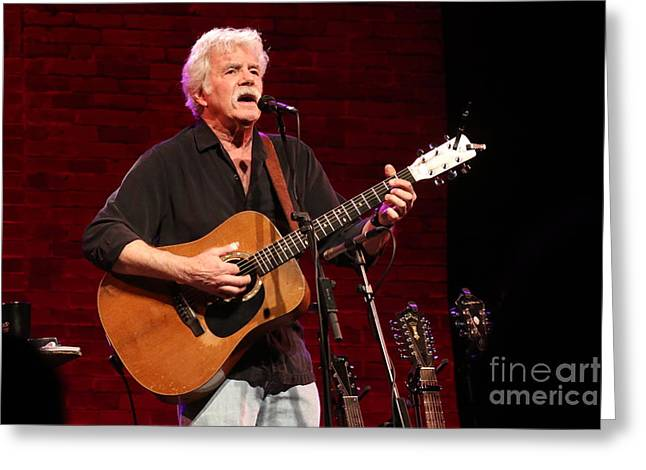 Musician Tom Rush Greeting Card by Concert Photos