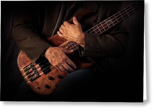Musician's Hands Greeting Card by David and Carol Kelly