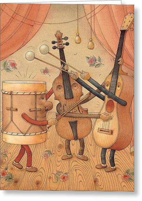 Musicians Greeting Card by Kestutis Kasparavicius