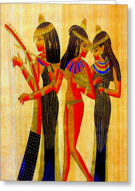 Musicians Of Egypt - Pa Greeting Card