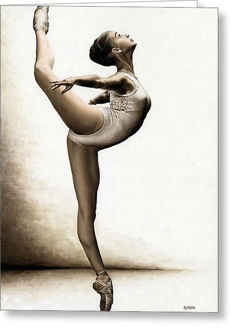 Musing Dancer Greeting Card