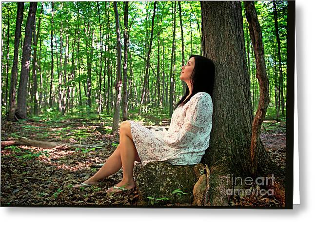 Greeting Card featuring the photograph Musing.. by Nina Stavlund