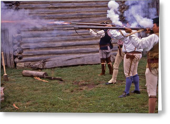 Musket Fire - 1 Greeting Card by Randy Muir