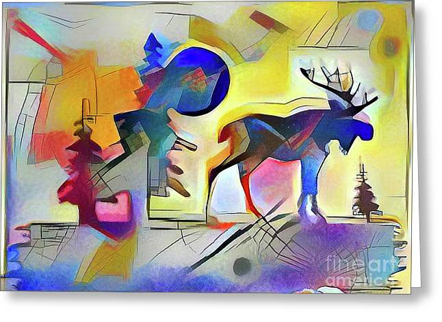 Muskoka Abstract Greeting Card by Anthony Djordjevic