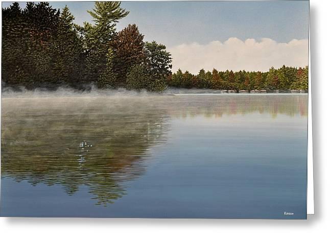 Muskoka Morning Mist Greeting Card by Kenneth M  Kirsch