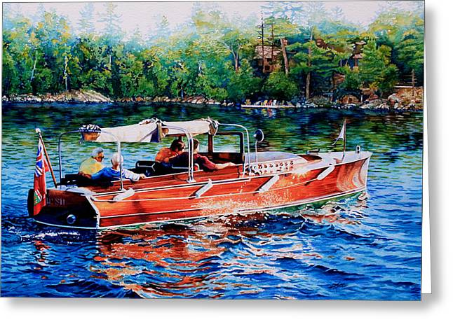 Muskoka Woody Greeting Card by Hanne Lore Koehler
