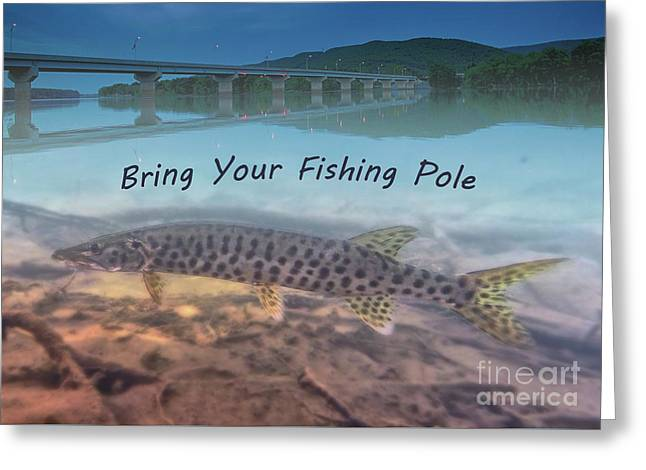 Musky Fish Greeting Greeting Card by Michael Kinney
