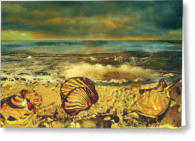 Mussels On The Beach Greeting Card by Anne Weirich