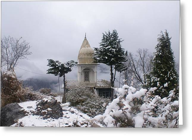 Mussoorie Winter -3 Greeting Card by Padamvir Singh
