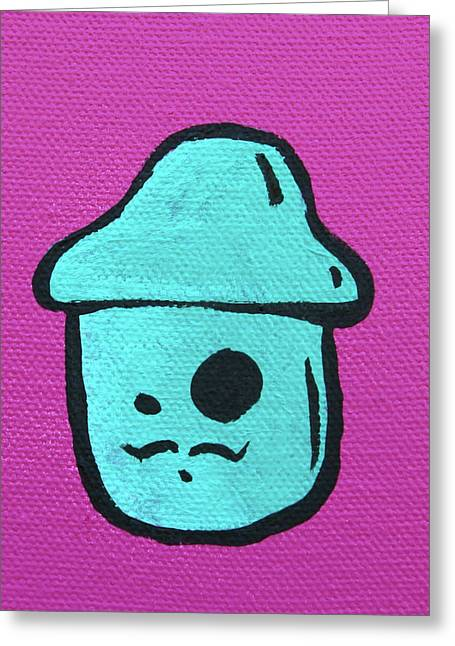 Mustache Mushroom Greeting Card by Jera Sky