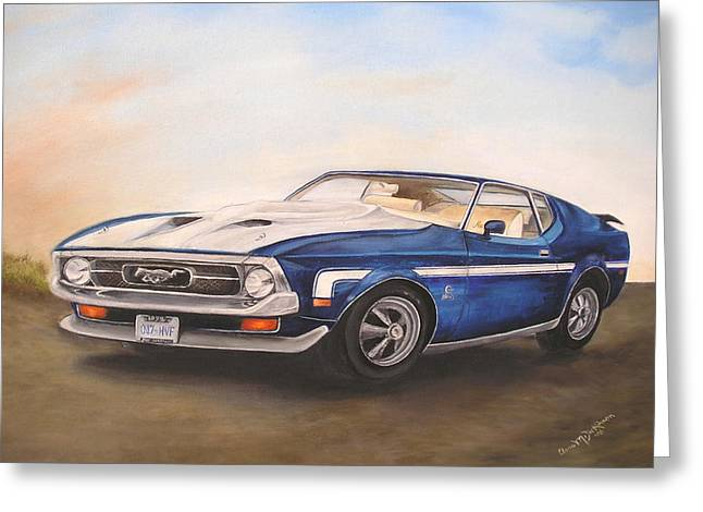 Mustang Greeting Card by Anna-Maria Dickinson