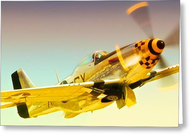 Planes Of Fame Greeting Cards - Mustang Checkmate Greeting Card by Gus McCrea