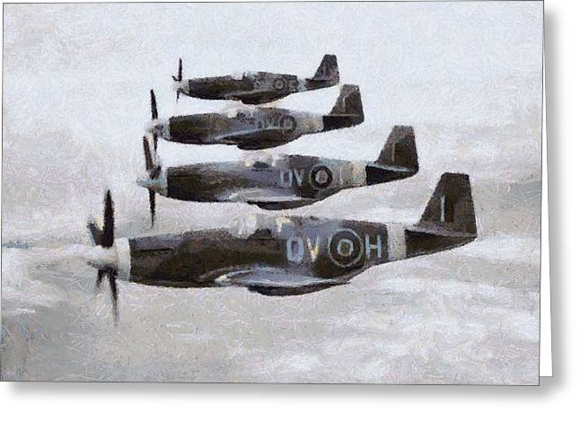 Mustang Fighter Planes Wwii Greeting Card
