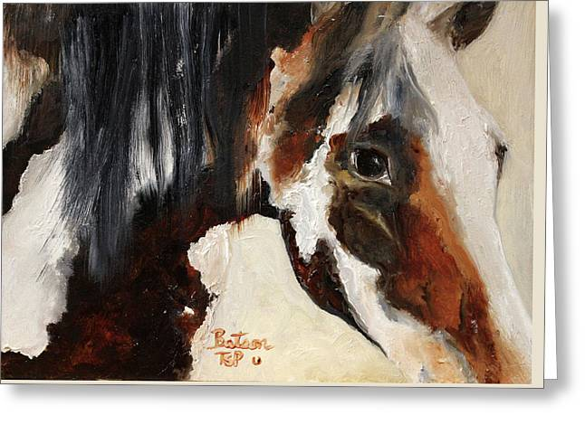 Mustang In My Heart Greeting Card by Barbie Batson