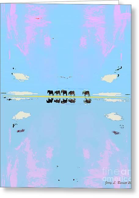 Mustang Island Greeting Card