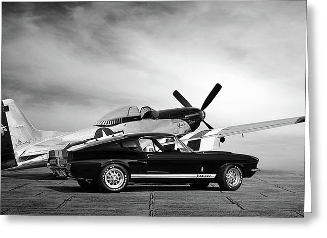Mustang Legends Greeting Card