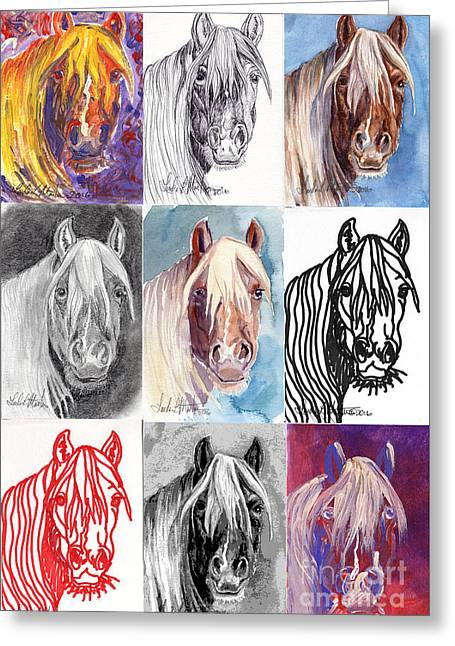 Mustang Mare 1154 Greeting Card