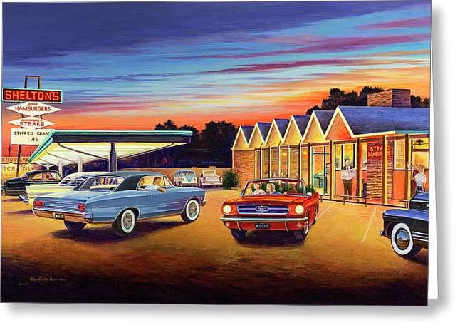 Mustang Sally - Shelton's Diner 2 Greeting Card