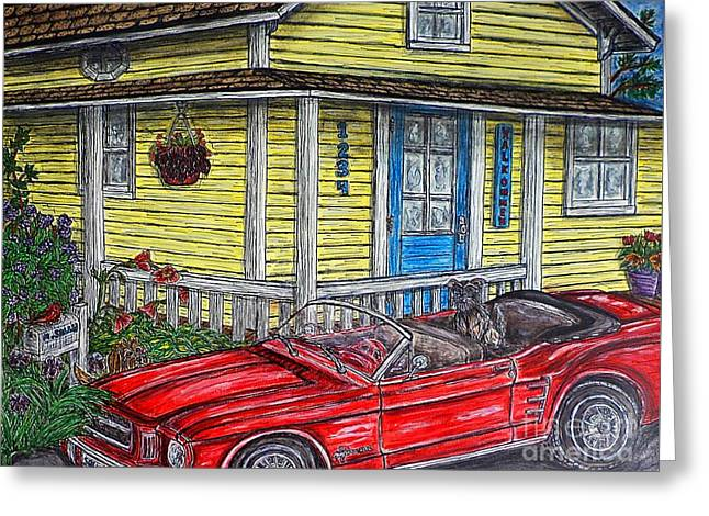 Mustang Sallys' Place Greeting Card