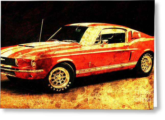 Mustang Shelby Gt500 Coupe 1967 Greeting Card
