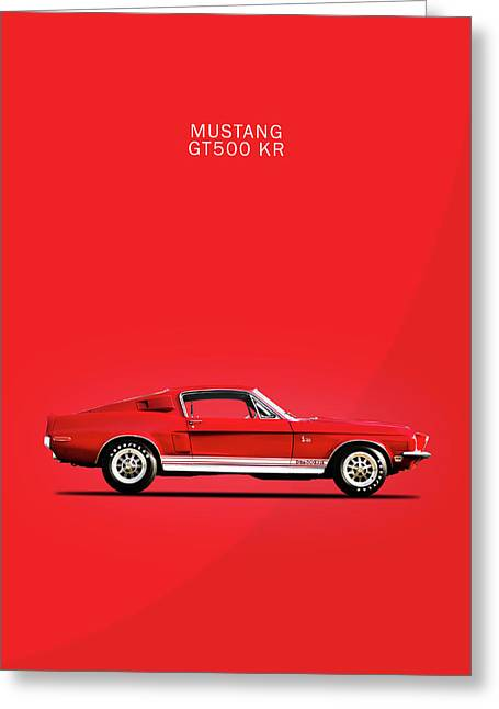 Mustang Shelby Gt500 Kr Greeting Card by Mark Rogan