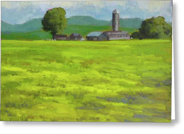 Mustard Fields Indiana Greeting Card