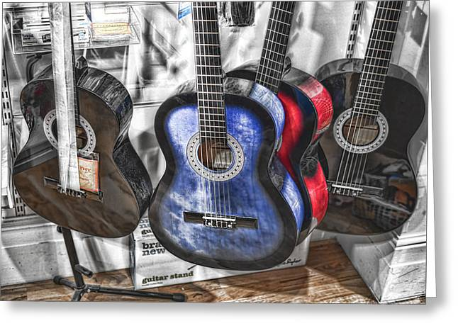 Muted Guitars Greeting Card