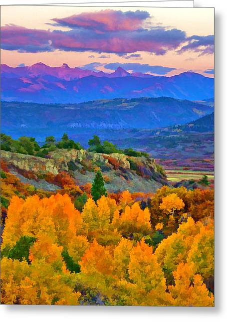 Muted Sunset Colors Of Autumn Greeting Card