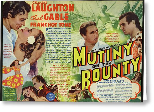 Mutiny On The Bounty 1935 Greeting Card by Mountain Dreams