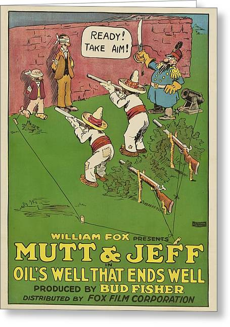 Mutt And Jeff 1919 Greeting Card by Mountain Dreams