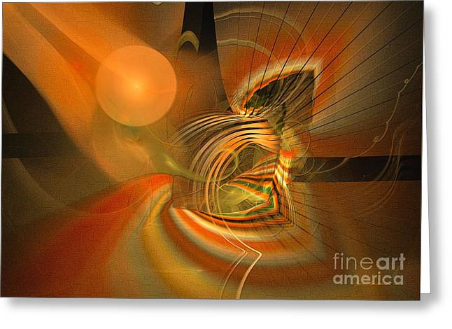 Mutual Respect - Abstract Art Greeting Card by Sipo Liimatainen