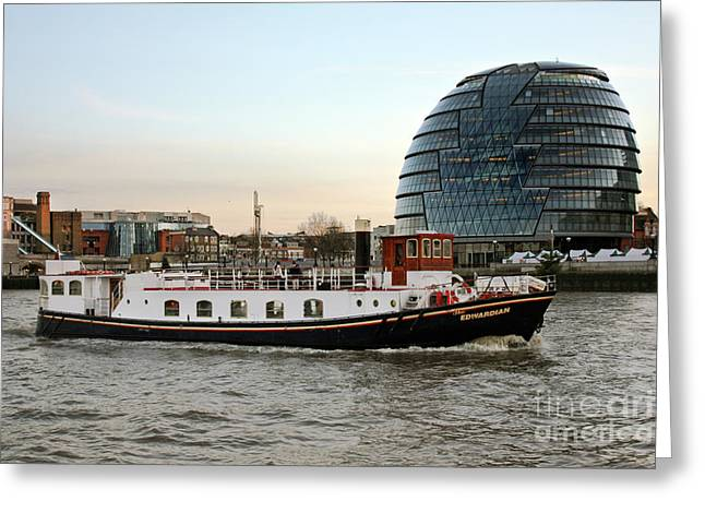 M.v. The Edwardian And City Hall London Greeting Card by Terri Waters